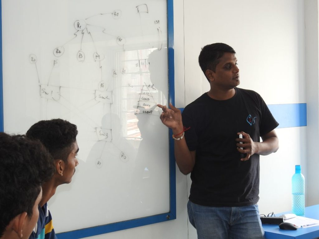 Our trainer's interaction with students