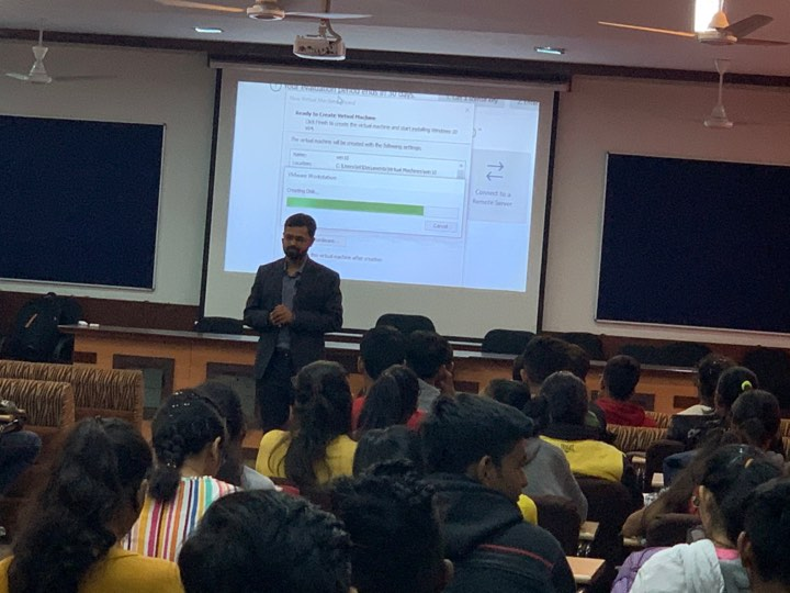 Interaction with IT students at Parul University